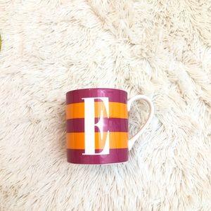 """Kate Spade Letter """"E"""" Lenox Mug"""